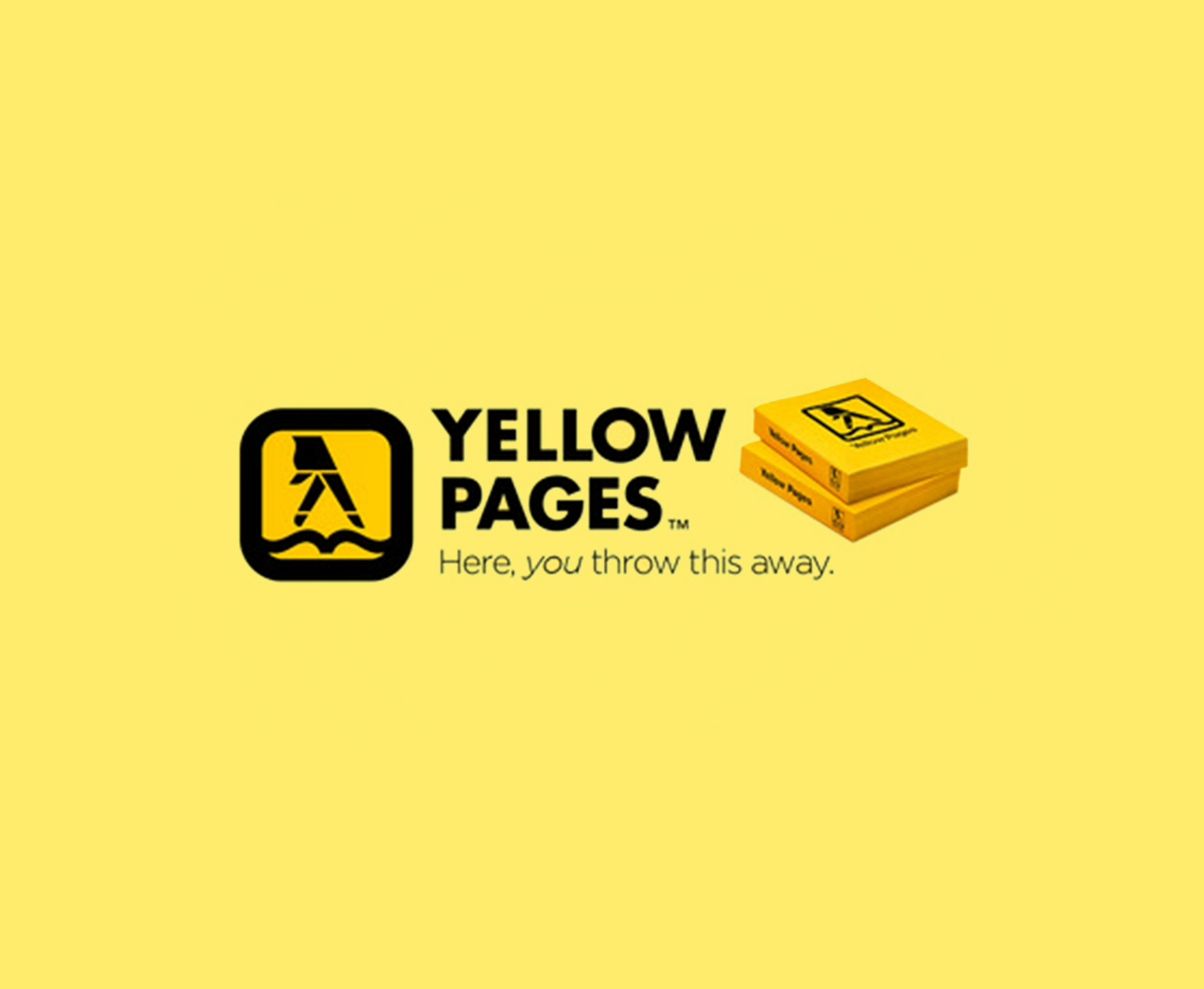 yellow pages throw away