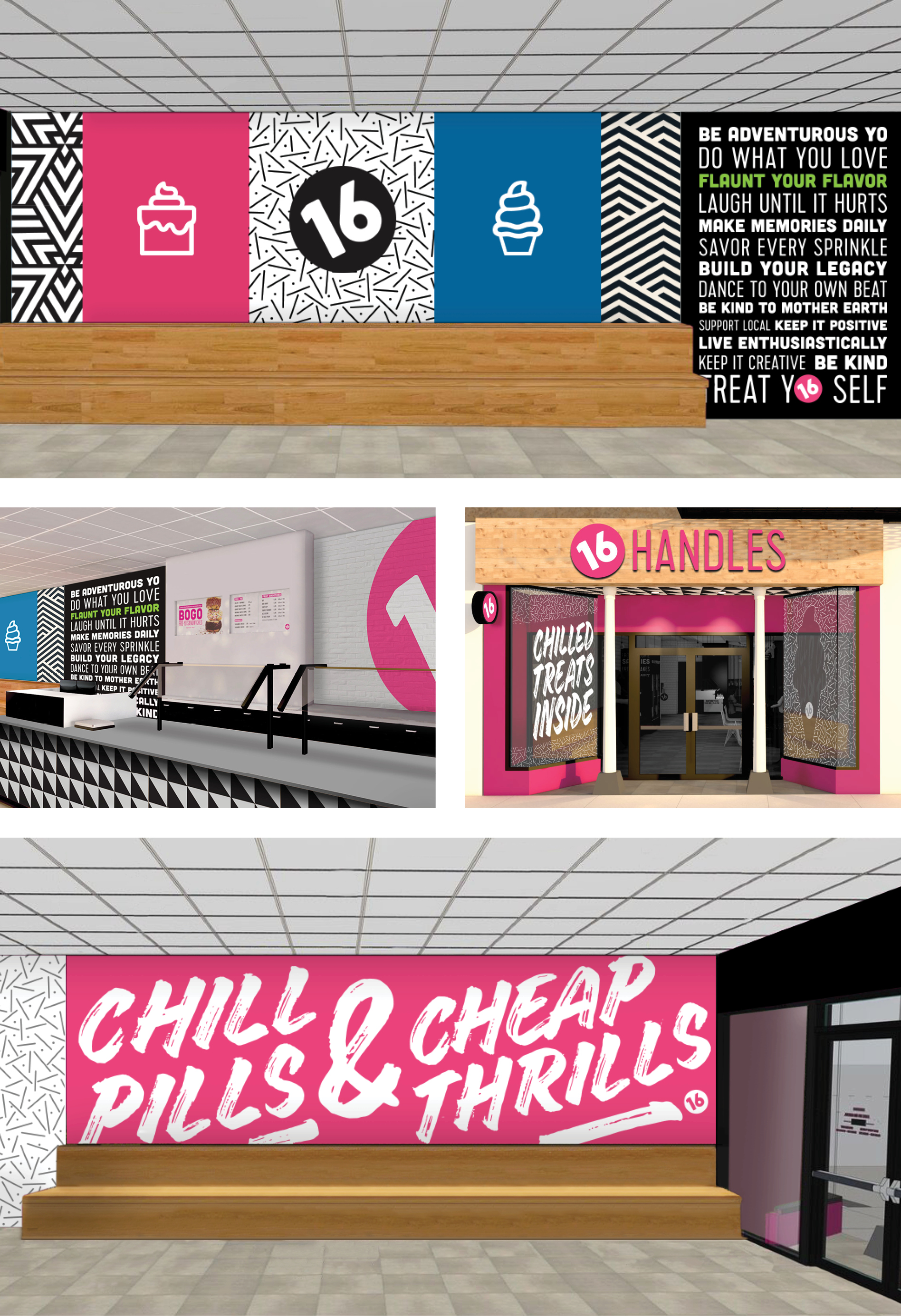 Frozen Yogurt Restaurant Branding