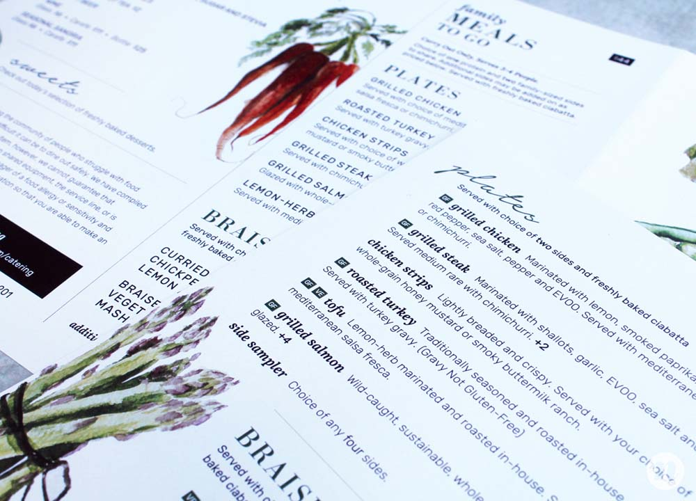 creative menu design firm