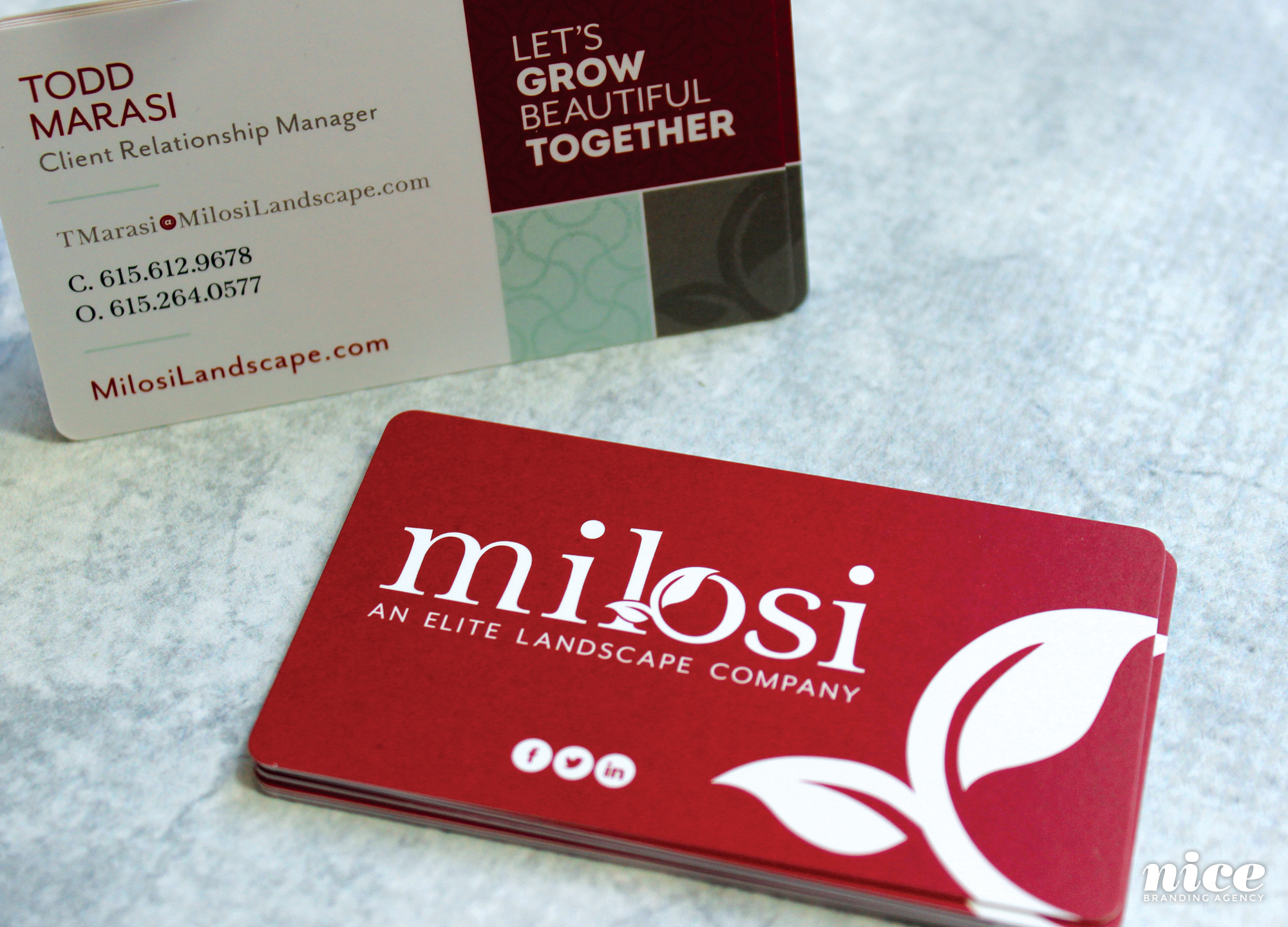 corporate business card design firm