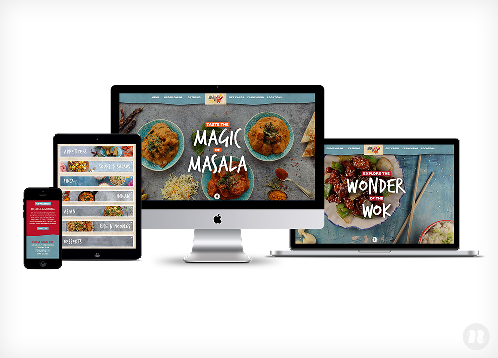 Masala Wok Website Design