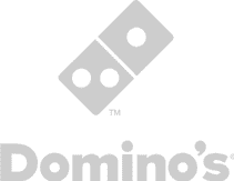 dominos menu design