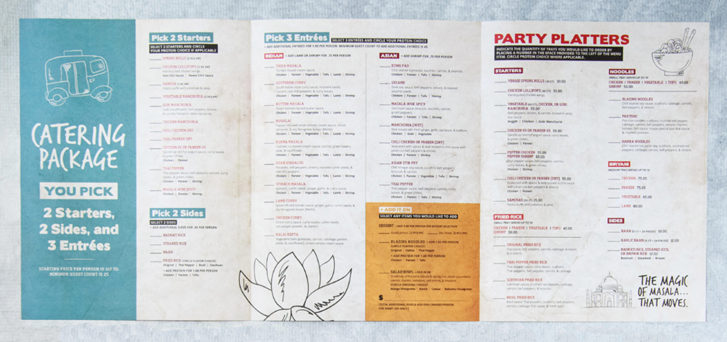restaurant menu design company