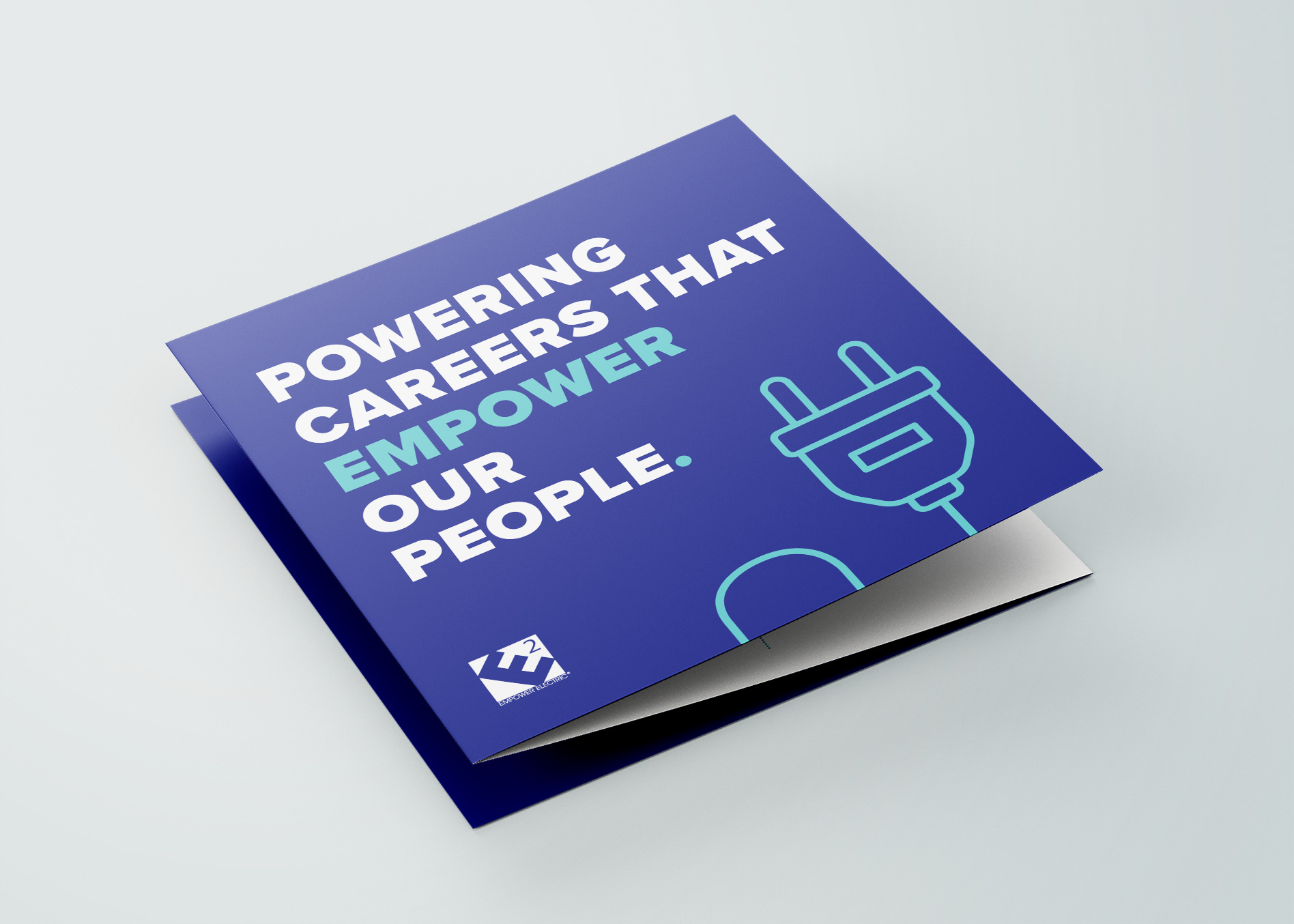graphic design company accordion fold brochure for empower electric