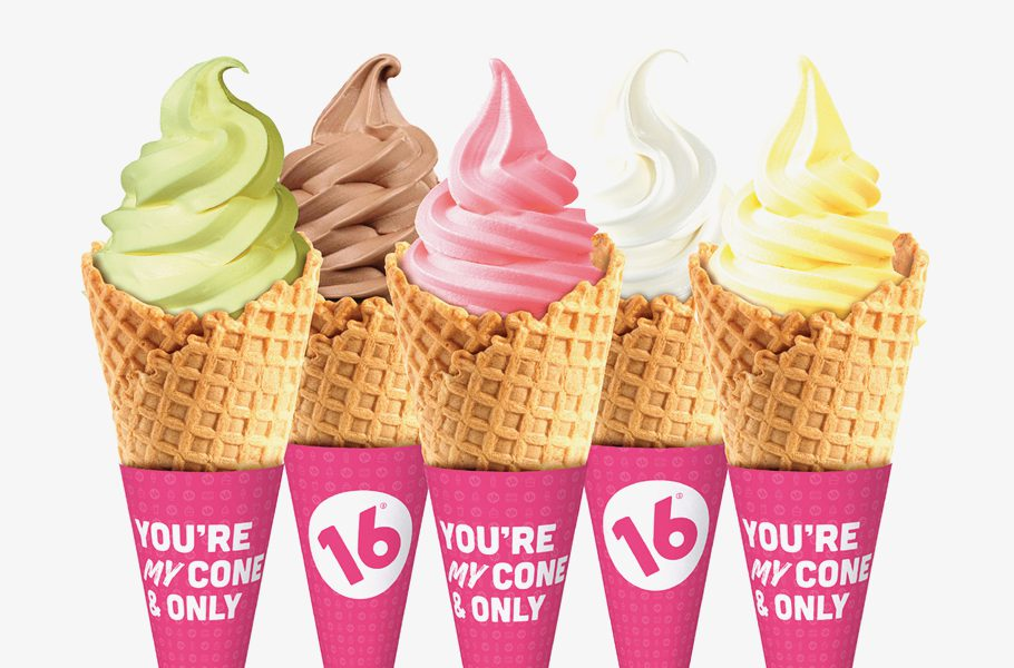 frozen-yogurt-cone graphic design