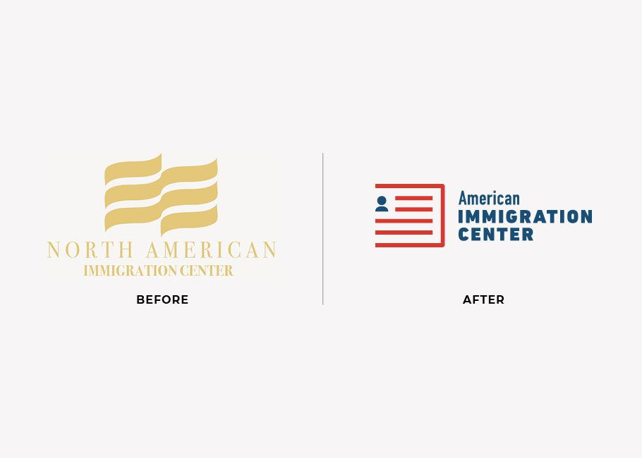 immigration center logo redesign example