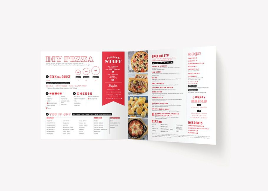 fast casual menu design