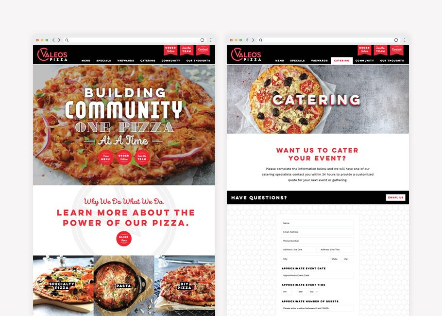 restaurant branding agency website design