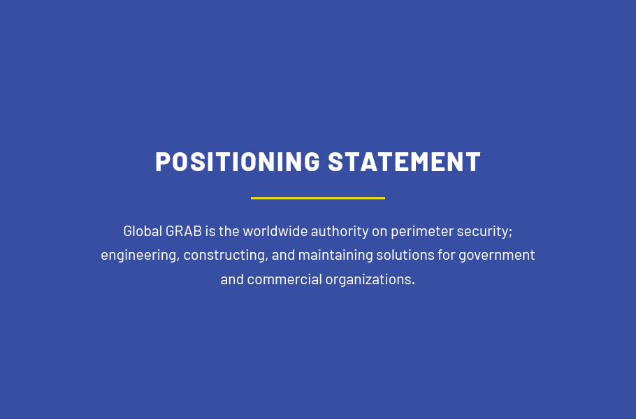 security company brand positioning statement
