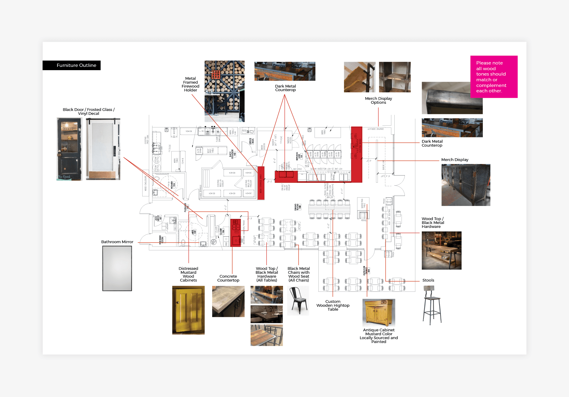 restaurant environmental floor plan