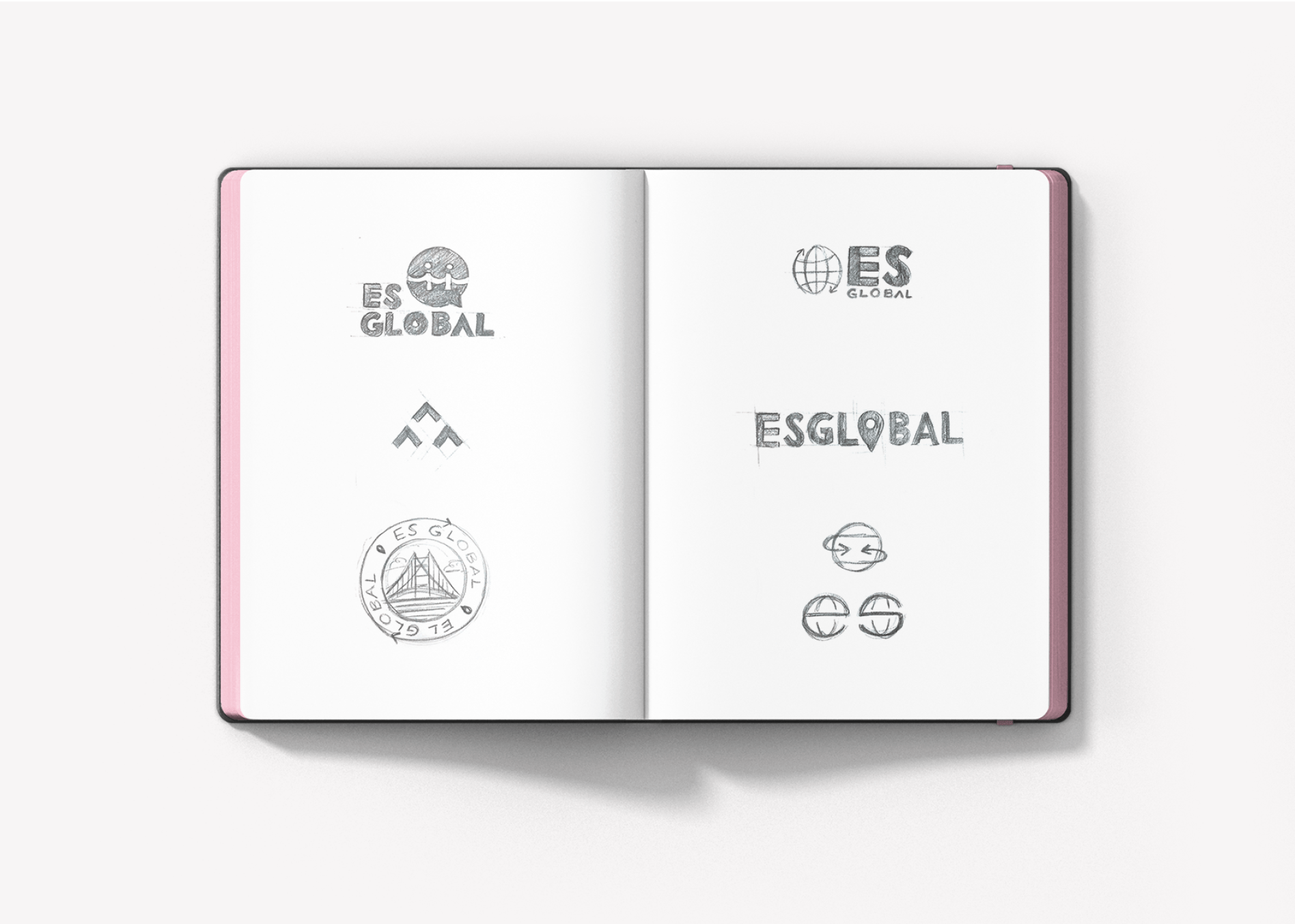 global logo sketches
