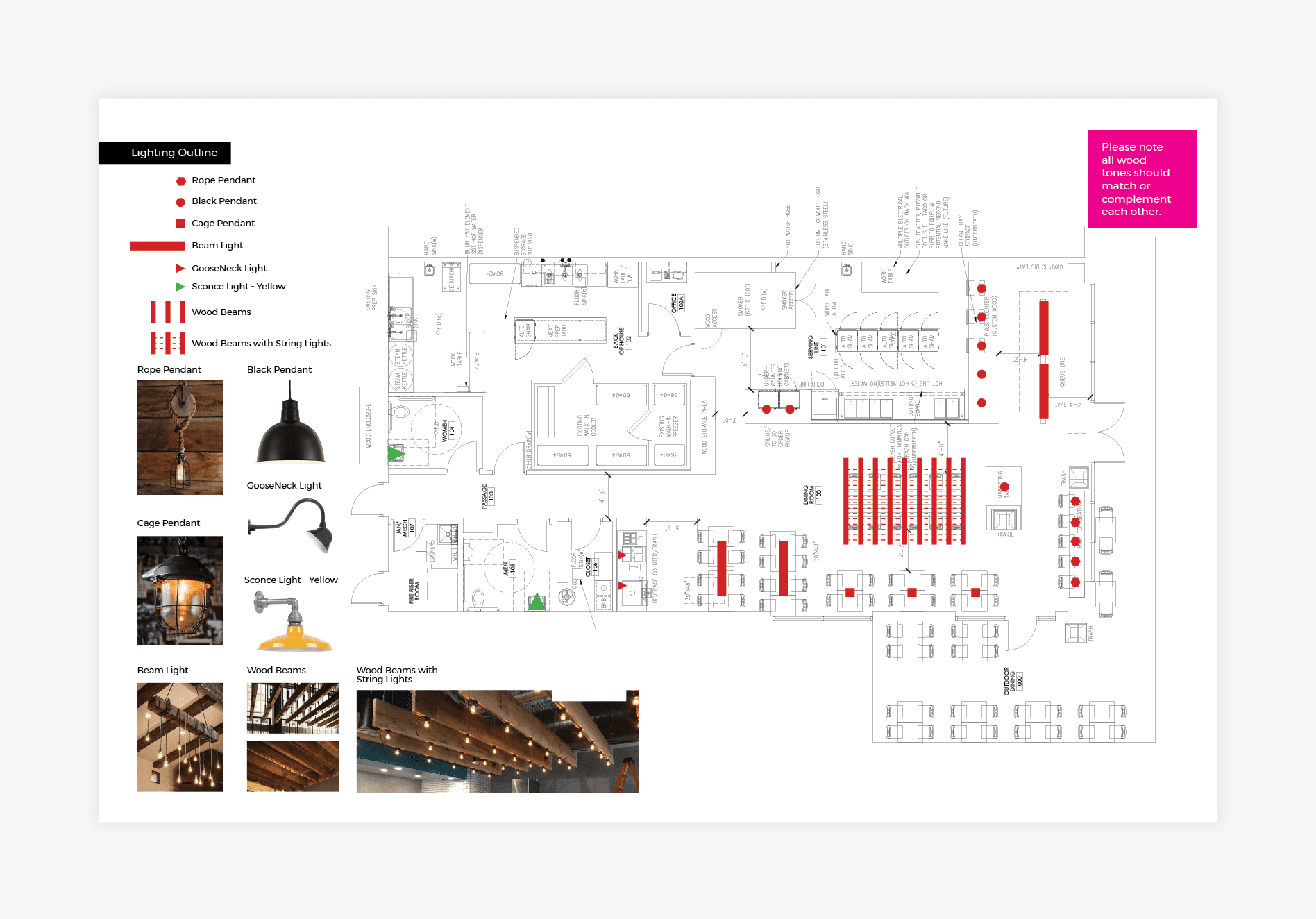 restaurant interior floor plan