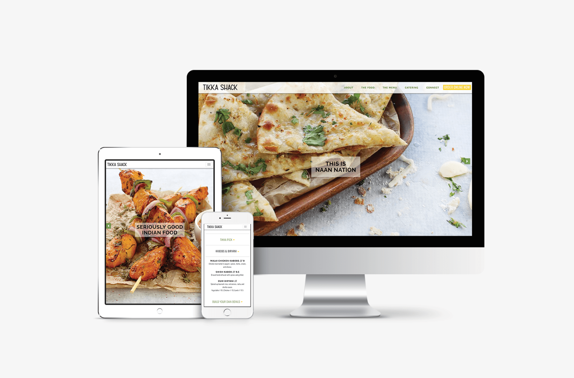 restaurant responsive website development