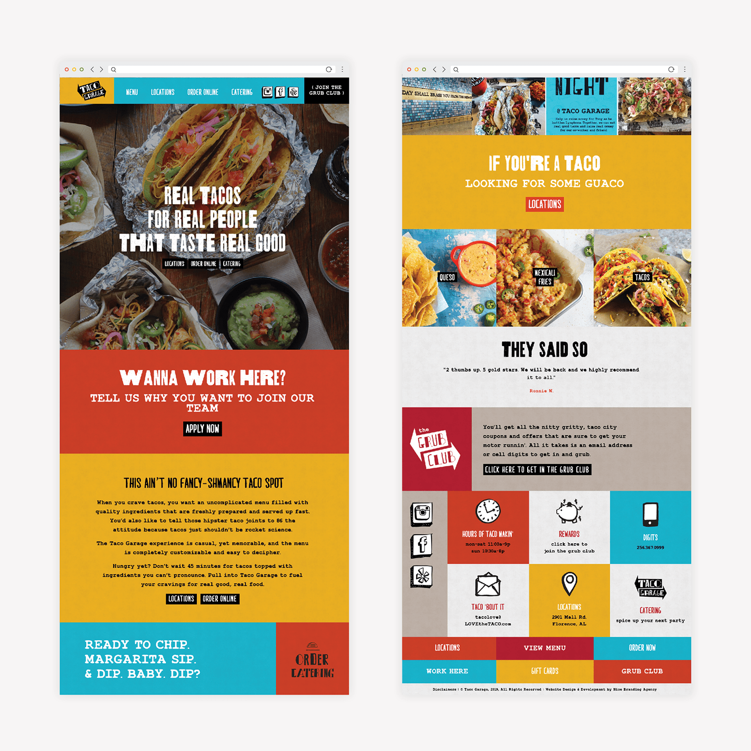 restaurant web digital design