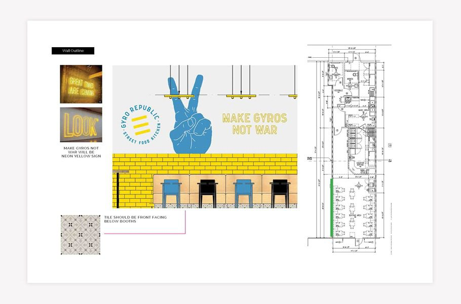 restaurant interior design plan