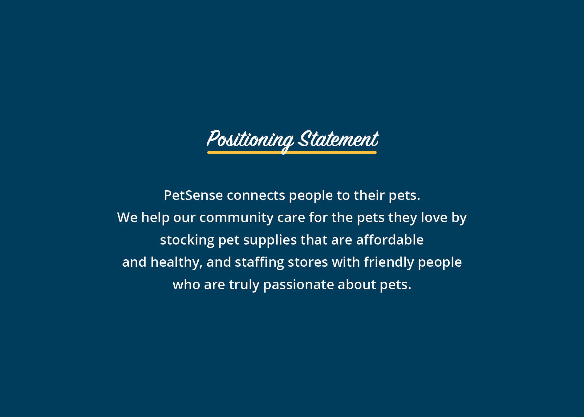 corporate positioning statement