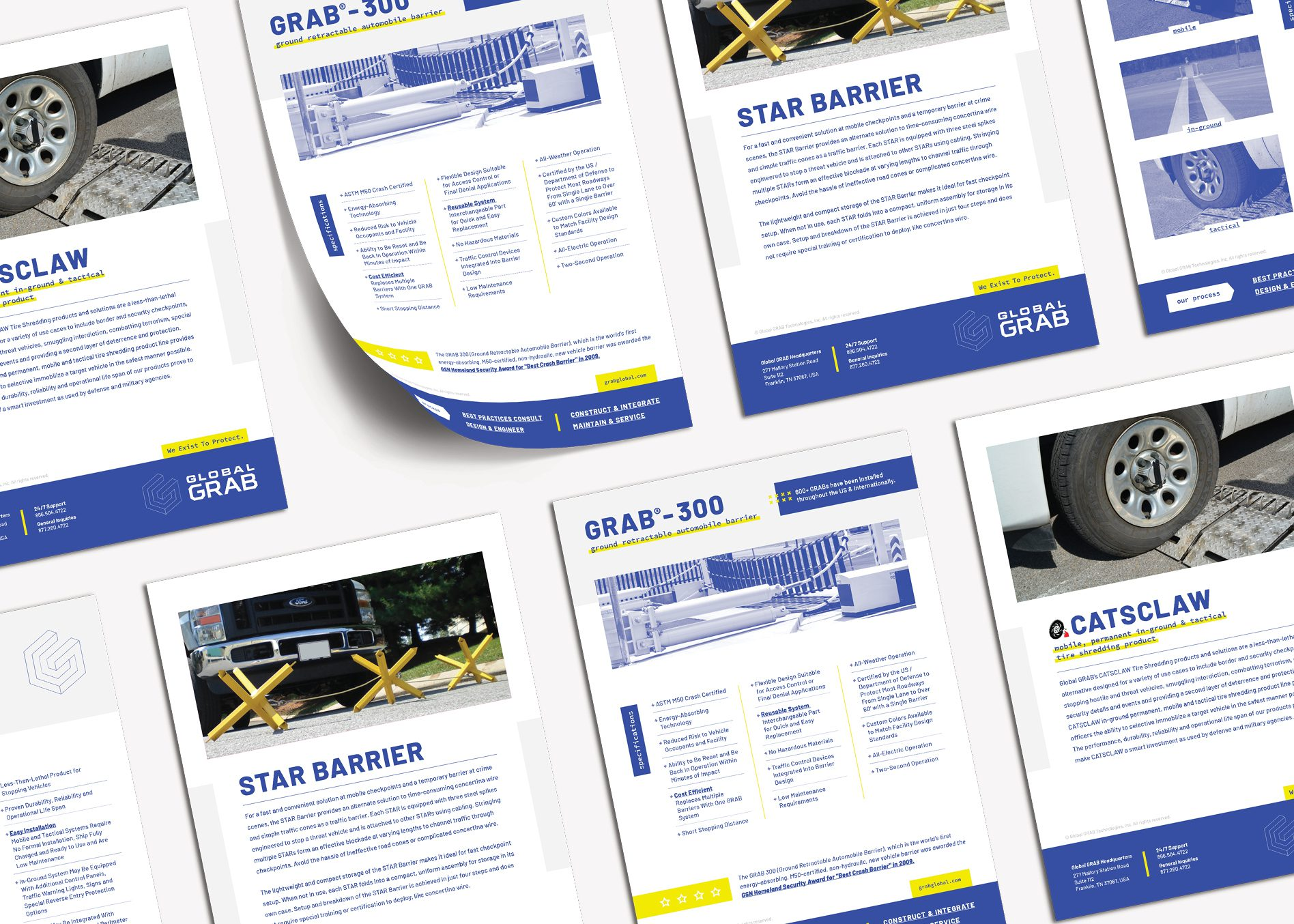 business marketing product sheets