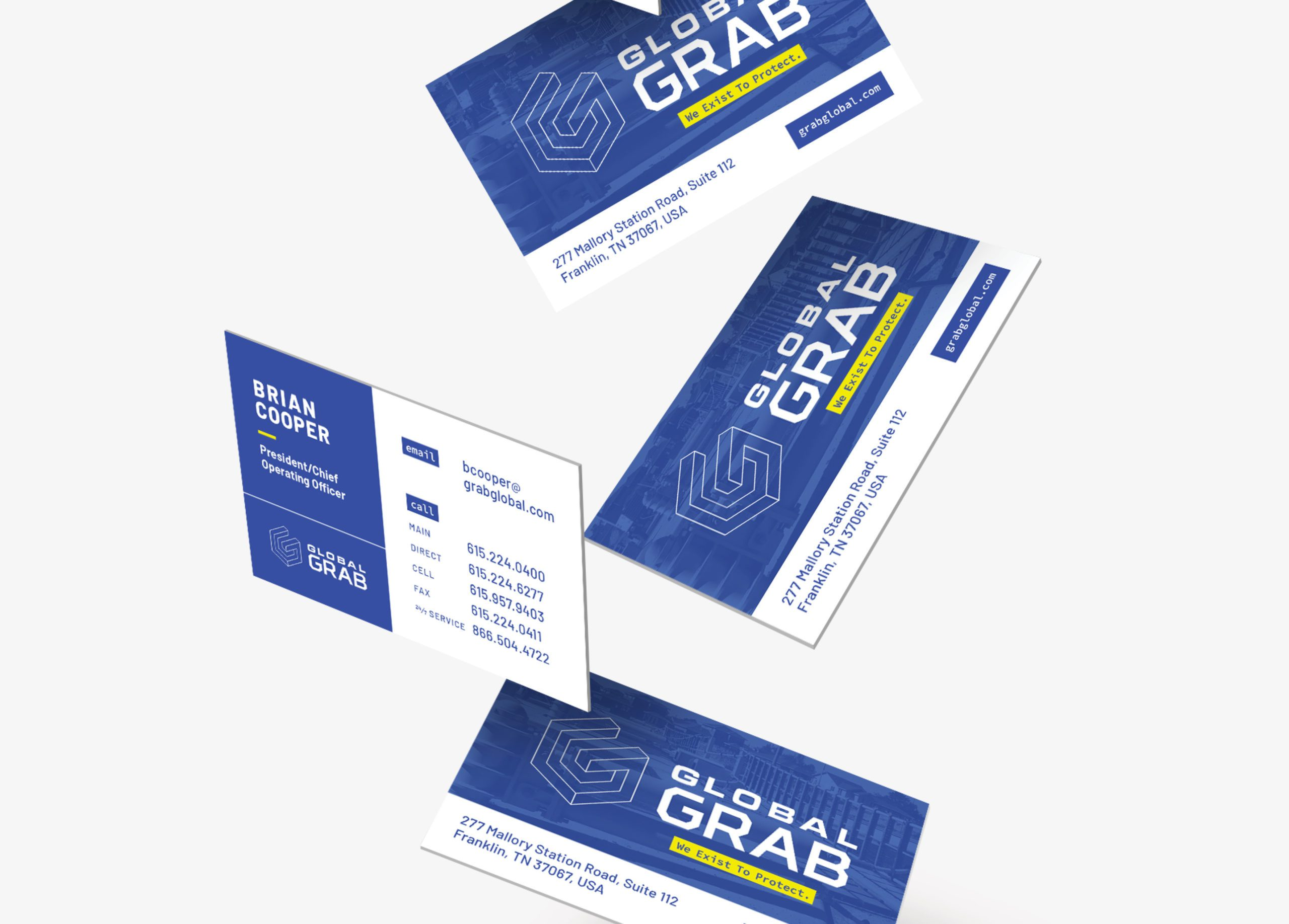 corporate brand business cards