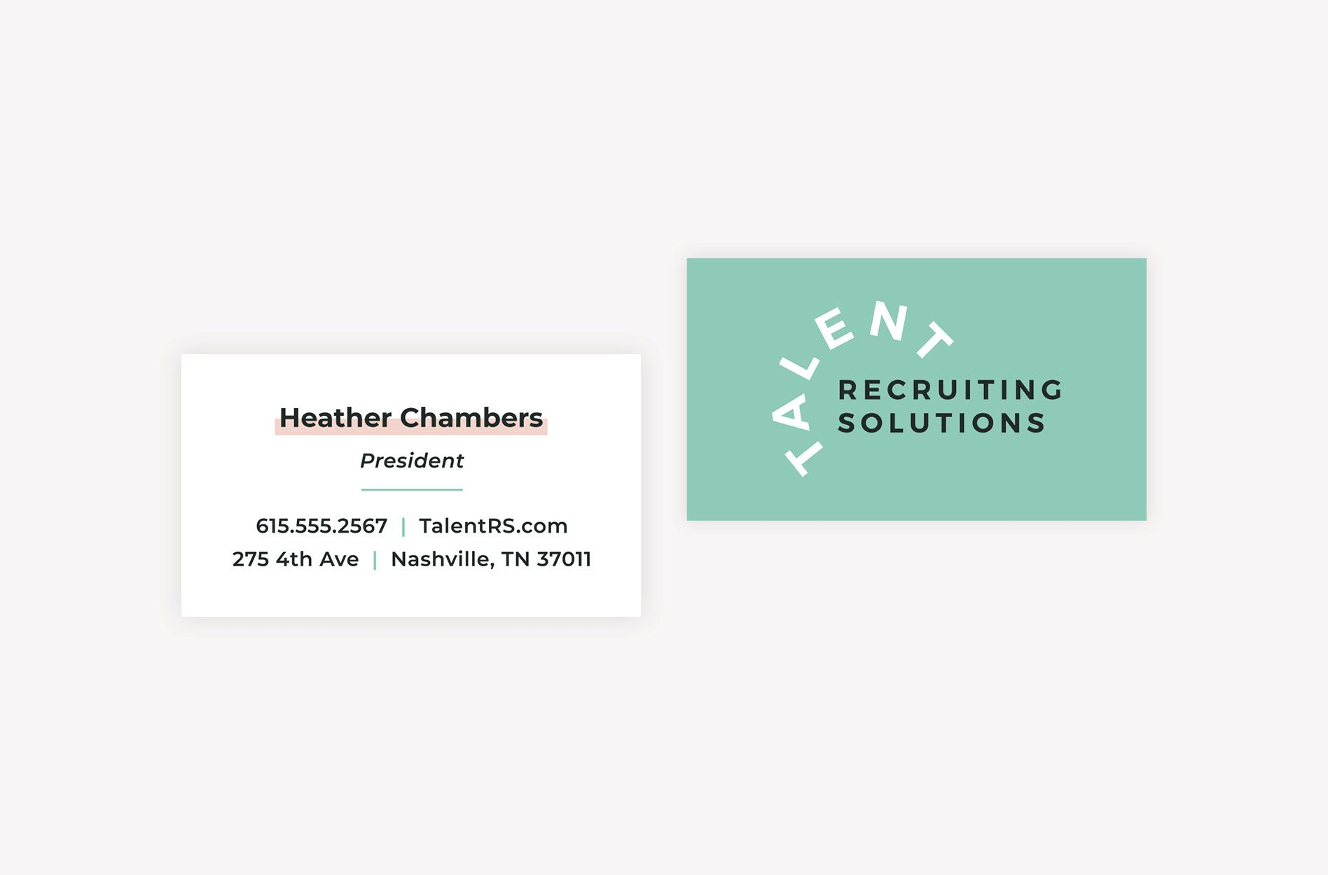 recruiting agency business card